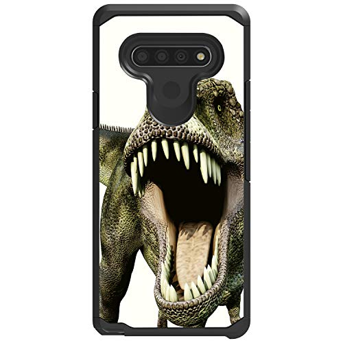 MINITURTLE Compatible with LG Stylo 6 Protective Dual Layer Armor Shockproof TPU Slim Fit Case Cover [Defender] - Dinosaur 1