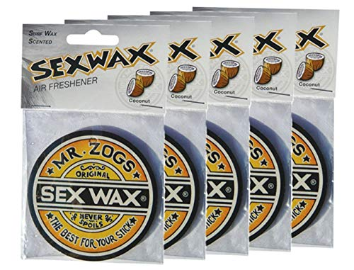Sex Wax Air Freshener Coconut 5-Pack