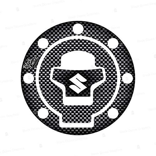 Protector adhesivo tapón para depósito de resina compatible con moto Suzuki hasta 2002 incluido y VSTROM hasta 2011