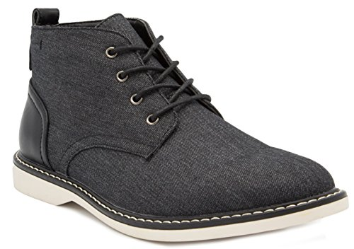 LONDON FOG Mens Belmont Chukka Boot Black 8.5 M US