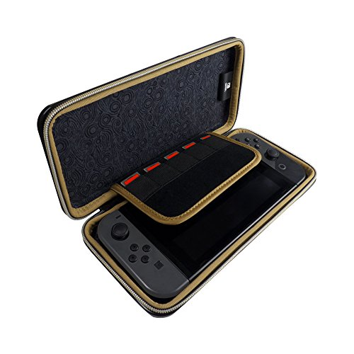 HORI Alumi Protective Metal Carrying Case with Game Card Storage (Zelda) - Nintendo Switch