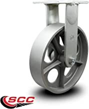 "Extra Heavy Duty Kingpinless 12"" x 3"" Semi Steel Cast Iron Rigid Caster - 2,500 lbs/Caster - Service Caster Brand"
