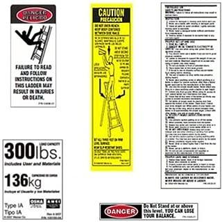 Werner 300 LB Fiberglass Step Ladder Label Kits by Werner