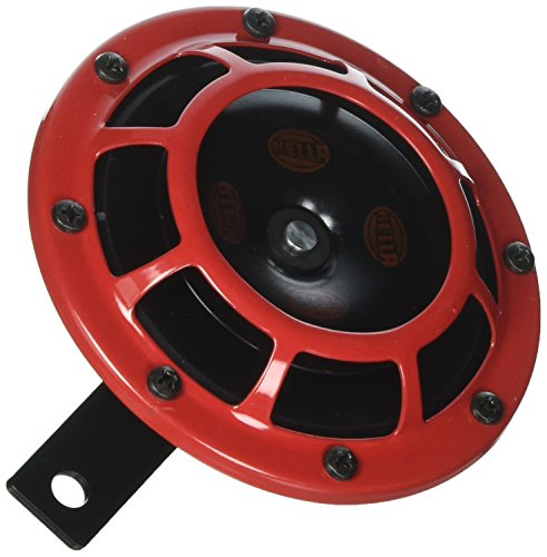 HELLA Stark Sound – 109.23.37 – Red Set 12 V High/Low Frequency Super Tone Horn Set B 133, 12 Volt -