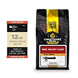 Christopher Bean Coffee - Red Velvet Cake Flavored Coffee, (Decaf Whole Bean) 100% Arabica, No Sugar, No Fats, Made with Non-GMO Flavorings, 12-Ounce Bag of Decaf Whole Bean coffee