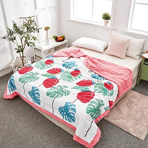 Bocotous EdredóN Ligero De Verano para Camping Y Verano 200 * 230 cm, Manta de Aire Acondicionado Impresa Primavera Verano para Cama de Oficina, edredón de sofá para colchas de Adultos B