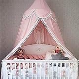 OldPAPA Baby Baldachin Betthimmel für Kinder Bett Hängende Moskitonetz für Schlafzimmer Ankleidezimmer Spiel Lesen Zeit Dekoration für Bett und Schlafzimmer Höhe 240cm(Rosa)
