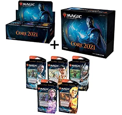 MTG Magic the Gathering Core Set 2021 M21 Booster Box + Bundle + All 5 Planeswalker Decks! by Wizards of the Coast
