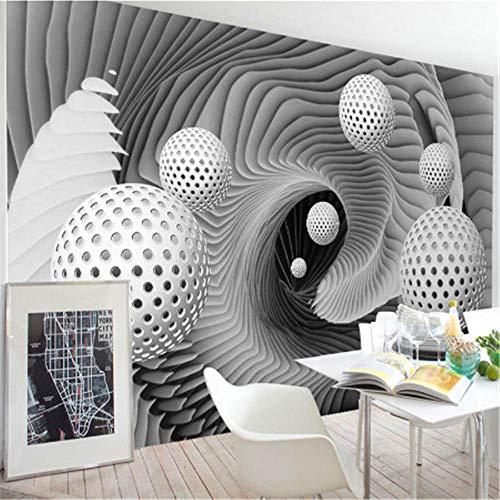 Yologg Benutzerdefinierte 3D Wandbild Tapete Moderne Abstrakte Kugel Raum Whirlpool Kunst Wandmalerei Wohnzimmer Tv Hintergrund Tapeten Rolle-200X140Cm