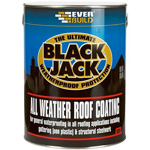 Everbuild Black Jack 905 All Weather Roof Coating, Black, 5 Litre