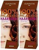 Sante BIO Haarfärbemittel bronze 2 x 100 g pflanzlich schonend Haare Tönung Haarfarbe glänzende...