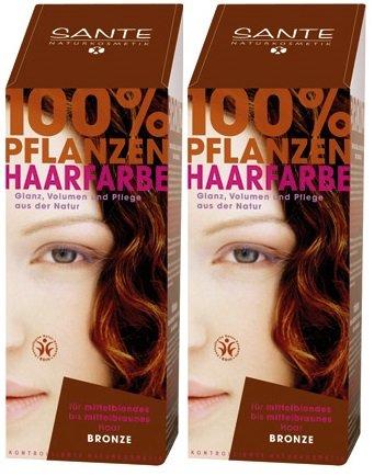 Sante BIO Haarfärbemittel bronze 2 x 100 g pflanzlich schonend Haare Tönung Haarfarbe glänzende strahlend sexy mild
