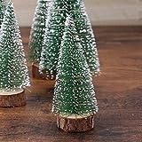 FENICAL Mini Weihnachtsbaum Künstlicher Weihnachtsbaum Christbaum Grün Tannenbaum künstliche Tanne 6pcs - 7