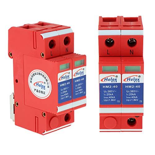 4pcs AC 220v 2p 20ka-40ka SPD Dispositivos Protectores Contra Sobretensiones para El Hogar Pararrayos