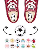 Etiquetas zapatos para diferenciar derecho izquierdo. 20 pares pegatinas niños escuela mix de diseños.
