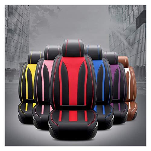 Xbai Asiento de Coche Universal Cubierta for Peugeot Todos los Modelos 106 205 206 301 306 307 308 406 407 508 3008 Asiento de Coche Protector (Color: Beige/Negro) (Color : Yellow)