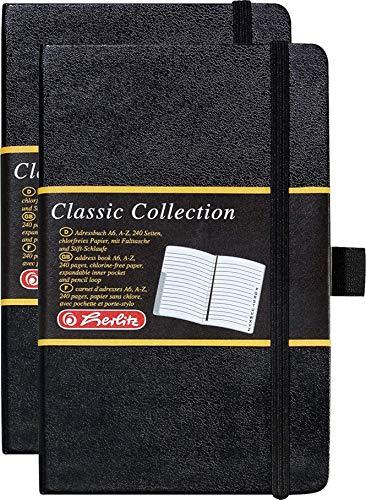 Adressbuch A6 Classic 240 Seiten 26-tlg. mit Register und Gummizug (A6, Adressbuch, 2)