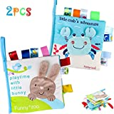Best Soft Books For Babies - Tinabless Baby Soft Book Cloth Book, 2 Pack Review