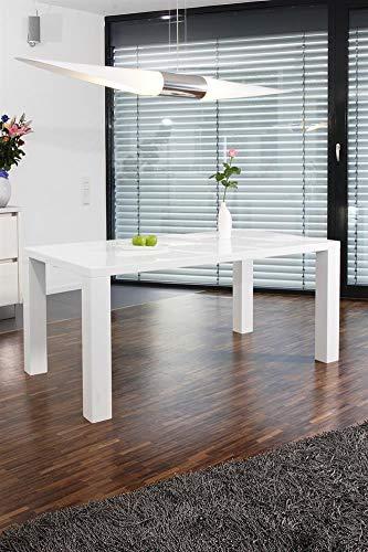 Unbekannt SalesFever Tisch Esstisch 120x80x76 cm weiß MDF L = 120 x B = 80 x H = 75 weiß