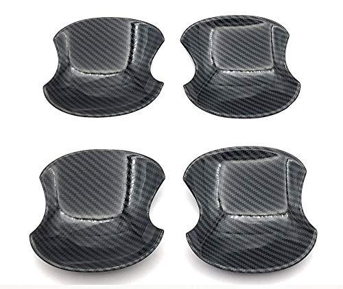 トヨタ ハリアー80系 ドアハンドルカバー ボウルカバー ガーニッシュ ドレスアップ カスタム パーツ プロテクター ABS製 爪キズ防止 フロント&リア カーボン調 4Pセット
