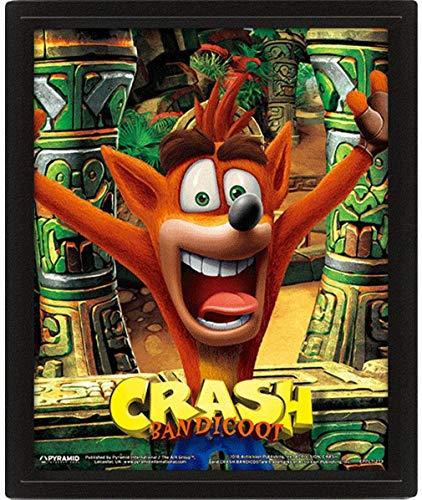 Crash Bandicoot EPPL71273 - Marco 3D 28,7 x 23,5 cm (Mask Power Up), multicolor, 28, 7 x 23, 5 x 4, 5 cm