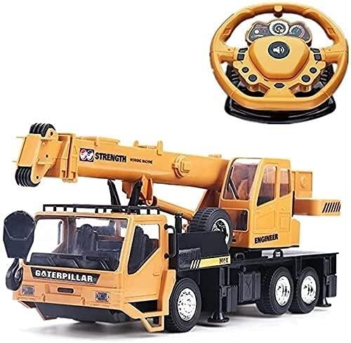 WANIYA1 Grande Rc Crawler Crane Engineering Truck, 2.4GHz inalámbrico de control remoto de control remoto de control de control de control remoto de control remoto Juguetes educativos for adultos y ni