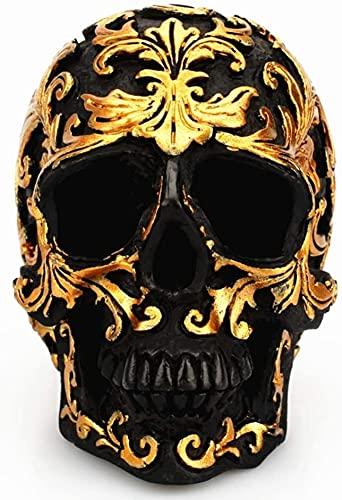 JYHZ Ornamentos, Escultura de decoración del cráneo, decoración de Resina de cráneo de Halloween Home Bar Party Decoration