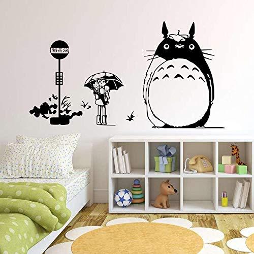 Klassischer Cartoon Totoro Anime Charakter Lustige Katze Tier Vinyl Aufkleber Kunst Wandaufkleber Wandbild Kinderzimmer Wohnkultur DIY Poster Junge Geschenk Comics Fans