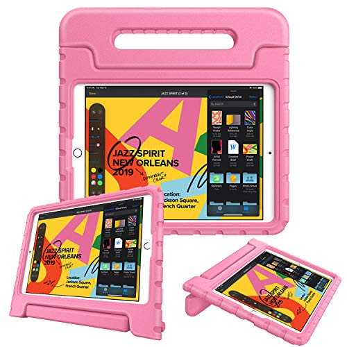 Fintie Kids Case for New iPad 8th / 7th Generation, iPad 10.2 Inch 2020 / 2019 Case - Shockproof Light Weight Handle Stand Case, Compatible with iPad Air 3 10.5' 2019 & iPad Pro 10.5' 2017, Pink