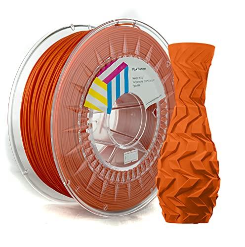 Eolas Prints | Filament 1.75 PLA | 3D Drucker | Geeignet für Lebensmittel und Spielzeugherstellung | 1,75 mm | 1 kg | Orange