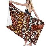 chillChur-DD Bath Towel Rosario-Asciugamani da bagno con cognome Americano,teli da bagno turchi per spiaggia,Set da bagno per Uso domestico