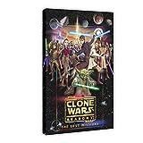Póster de la serie de animación de Star Wars The Clone Wars temporada 6 de la temporada de la 6 de la pared, para la decoración de la sala de estar, dormitorio, 40 x 60 cm. Marco: 1