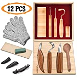 Best wood carving tools - 12pcs Wood Carving Tools Set-WAYCOM Hook Carving Knife,Detail Review