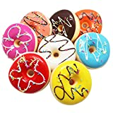 SAIBANG Realistic Artificial Cake Fake Donuts for Display High Simulation Bread Dummy Foods Studio Photo Prop DIY Decoration Accessories Dessert Food Toys Set of 8 Bright Color Kitchen Room Décor