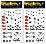 Tattoos 2 Sheets Cartoon Red Crown Elephant Bird Tattoo Mixed Style Body Art Temporary Tattoos Fake Waterproof Removable Stickers Party for Kid Teens Men Women