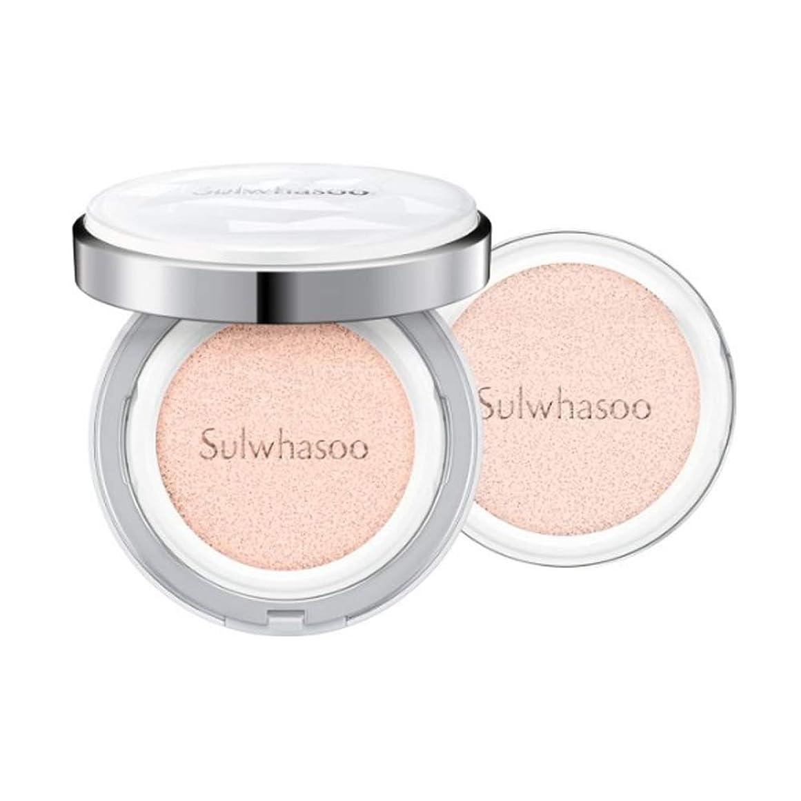 電信逆説二年生[Sulwhasoo]雪花秀(ソルファス)滋晶(ジャジョン)ブライトニングクッション #21ナチュラルピンク SPF50+/PA+++ Snowise Brightening Cushion 21 Natural Pink