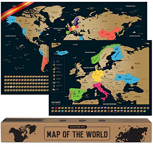 Mapa Mundi Rascar I Español I Más el mapa de Europa I...