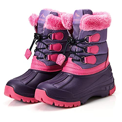 Weestep Toddler Little Kid Boys and Girls Waterprooft Warm Winter Snow Boots...