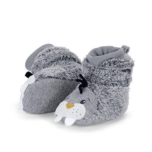 Sterntaler Schuh, Chaussons bébé garçon, Gris Basalte 515, 20 EU