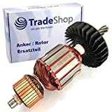 Anker/Rotor/Motor Ersatzteil/Läufer/Kollektor/Polpaket mit Lüfter für Makita Stemmhammer HM1202C,...