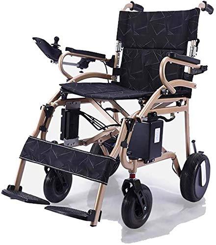 Silla de Ruedas eléctrica Plegable, Silla de ruedas, 2020 Compacto Silla de ruedas eléctrica inteligente Peso neto 19 Kg silla de ruedas se puede recoger en el plano manual de la velocidad aju