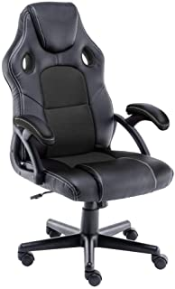 Play haha.Chaise de Jeu Chaise de Bureau Fauteuil pivotant Chaise d'ordinateur Ergonomie Chaise de conférenceSupport Lomba...