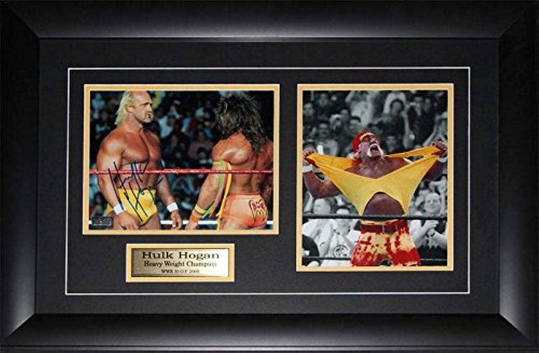 Hulk Hogan WWF WWE World Wrestling Entertainment Federation Signed 2 Photo Frame