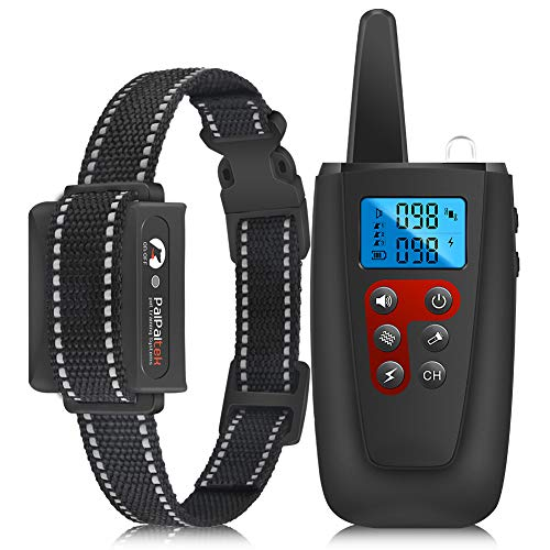 Paipaitek Shock Collars for Dogs with Remote, 3300Ft Range Electric Dog Collar for Large Medium Small Dogs, Waterproof Dog Training Collar w/3 Modes Beep, Vibration and Shock (1-100 Levels)