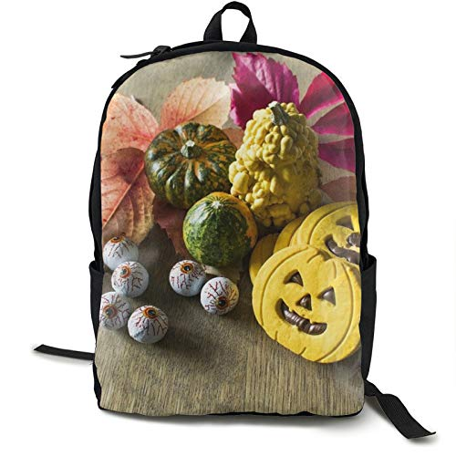Lightweight Backpack Rucksack Foldable Ultralight Packable Backpack,Halloween Day Of The Dead Pumpkins Unisex Durable Handy Daypack for Travel & Outdoor Sports
