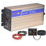 Pikasola 2000W Power Inverters Pure Sine Wave Inverter 12V to 110V,Color LED Display&Remote Control, Wind&Solar Inverter suit Off Grid Solar Power Systems, Converter for Car RV Truck Home Boat Camping