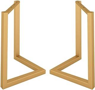 GJSN Pieds de table, pieds de table en fer en forme de V pour salle à manger - Support simple pour bureau de réunion, tabl...