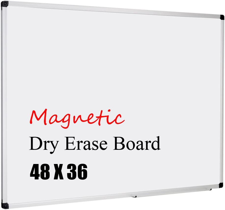XBoard Magnetic Whiteboard 48 x 36, White Board 4 x 3, Dry Erase Board with Detachable Marker Tray : Office Products