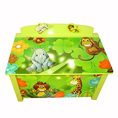 Homestyle4u Spielzeugtruhe Dschungel grün - 4