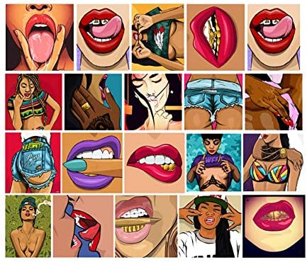 Sexy Lady Women Pin Up Girl Men Vinyl Stickers for Adult Laptop Skateboard Motorcycle Car Bike Luggage Trolley Case Decoration Waterproof Decals Sun-Proof 50 PCS Stickers Pack